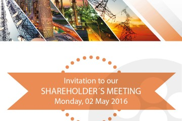 INVITATION TO OUR SHAREHOLDER'S MEETING